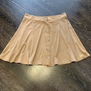 Full Tilt Soft Flowy Button-up Skirt